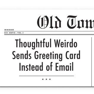 Mincing Mockingbird Birthday Card - Thoughtful Weirdo
