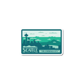 Alki Supply Company Seattle Skyline Sticker
