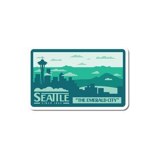 Alki Supply Company Seattle Skyline Sticker
