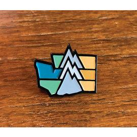 Alki Supply Company WA Mountain Enamel Pin