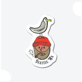 Alki Supply Company Seattle Fisherman Sticker