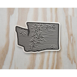 Alki Supply Company WA Topographic Sticker