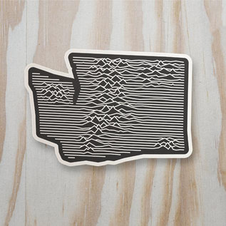 Alki Supply Company WA Topographic Sticker