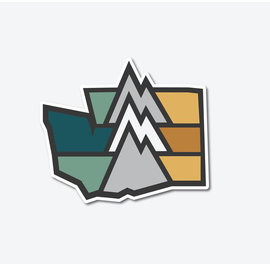 Alki Supply Company WA Mountain Sticker