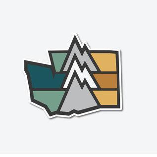 Alki Supply Company WA Mountain Sticker