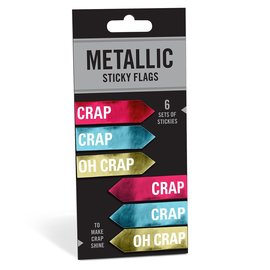 Knock Knock Crap/Oh Crap Metallic Sticky Flags
