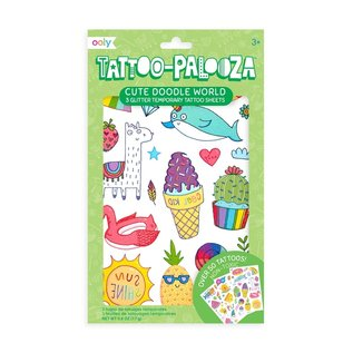 Ooly Cute Doodle World Temporary Tattoos