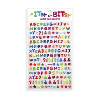 Ooly Pattern Alphabet Itsy Bitsy Stickers