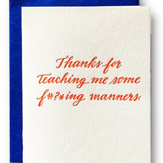 Ladyfingers Letterpress Parent Card -  Manners