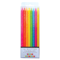 Party Partners Neon Rainbow  Glitter Candle Set