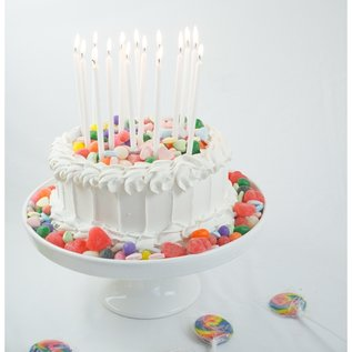 Party Partners White Glitter Candle Set