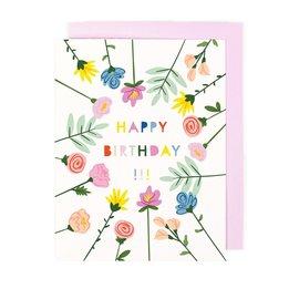 Little Low Birthday Card - Blooming Birthday