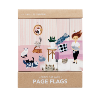 Girl of All Work Cat Lady Page Flags