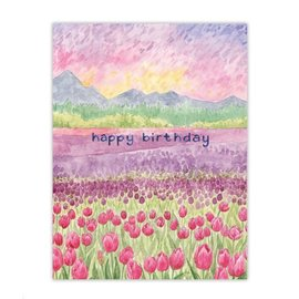Yardia Birthday Card - Tulips