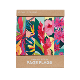 Girl of All Work Tropical Flora Page Flags