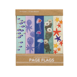 Girl of All Work Ocean Friends Page Flags