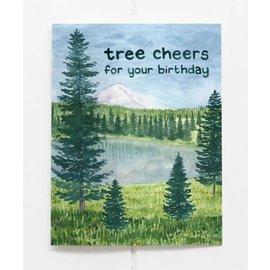 Yardia Birthday Card - Tree Cheers