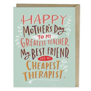 Em and Friends Mother's Day Card - Cheapest Therapist