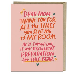 Em and Friends Mother's Day Card - Sending Me to My Room