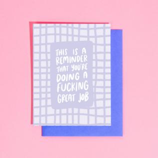 Craft Boner Encouragement Card - Great Fucking Job