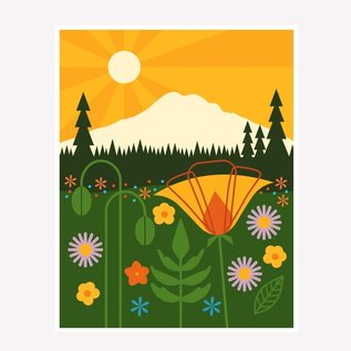 Amber Leaders Mt. Rainier Print