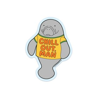 Lucky Horse Press Chill Out Manatee Sticker
