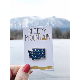 Sleepy Mountain Washington Mountains Enamel Pin