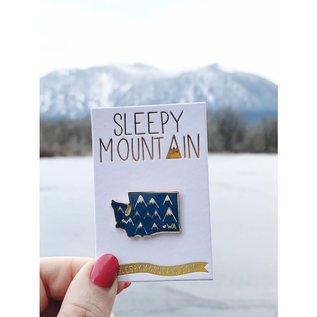 Sleepy Mountain Washington Mountains Enamel Pin