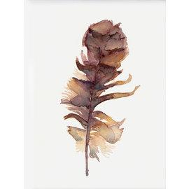 Jennifer Dean Art Forest Owl Feather Print