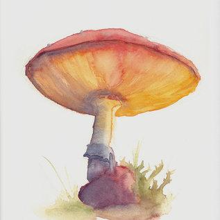 Jennifer Dean Art Forest Mushroom Print