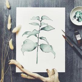 Jennifer Dean Art Evening Shadow Green No. 3 Print