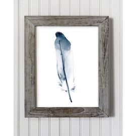 Jennifer Dean Art Blue Feather Print