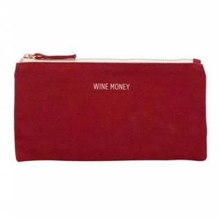 About Face Wine Money Pouch