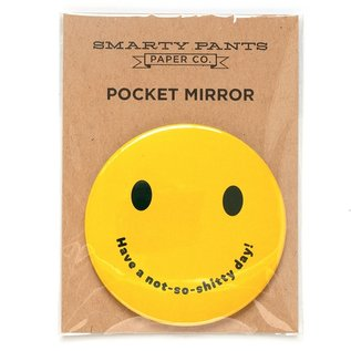 Smarty Pants Paper Smiley Face Pocket Mirror
