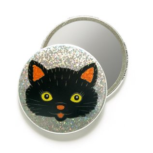 Smarty Pants Paper Black Cat Pocket Mirror
