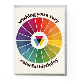 Boss Dotty Paper Co. Birthday Card - Color Wheel