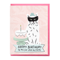 Boss Dotty Paper Co. Birthday Card - Cat Lady in Crime