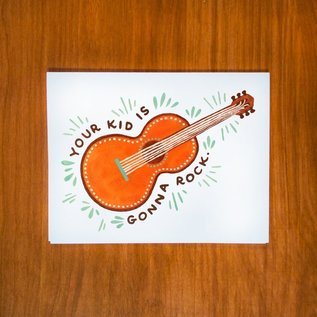 Pretty Bird Paper Co. Baby Card - Guitar