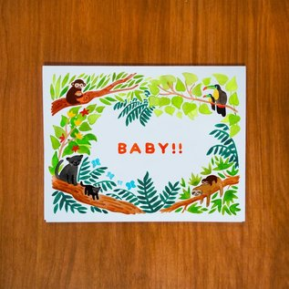 Pretty Bird Paper Co. Baby Card - Exclamation