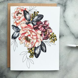 The Mint Gardener Greeting Card - Peony and Berries