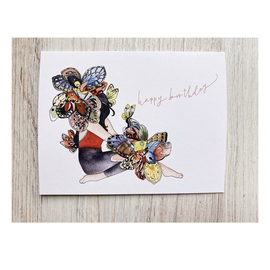 The Mint Gardener Birthday Card - Butterfly Lady