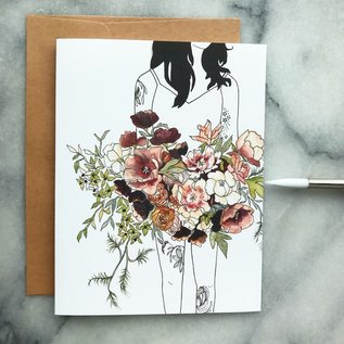 The Mint Gardener Greeting Card - Florence the Wildflower