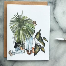 The Mint Gardener Greeting Card - Florence and the Plant Besties