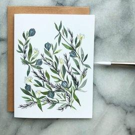 The Mint Gardener Greeting Card - Blue Juniper