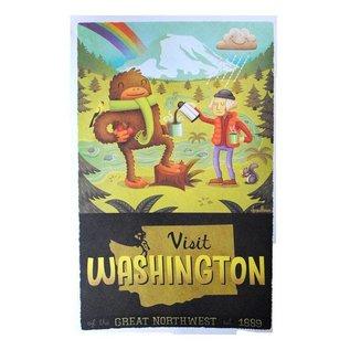 Hazy Dell Press Visit Washington Print