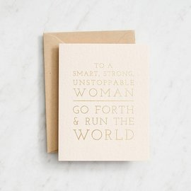 Waste Not Paper Graduation Card - Run the World