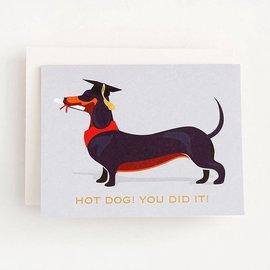 Waste Not Paper Graduation Card - Hot Dog Grad