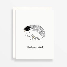 Waste Not Paper Graduation Card - Hedg-u-cated