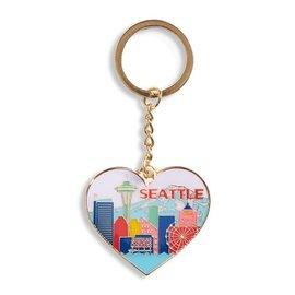 The Found Seattle Skyline Heart Keychain