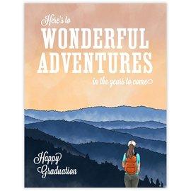Waterknot Graduation Card - Wonderful Adventures